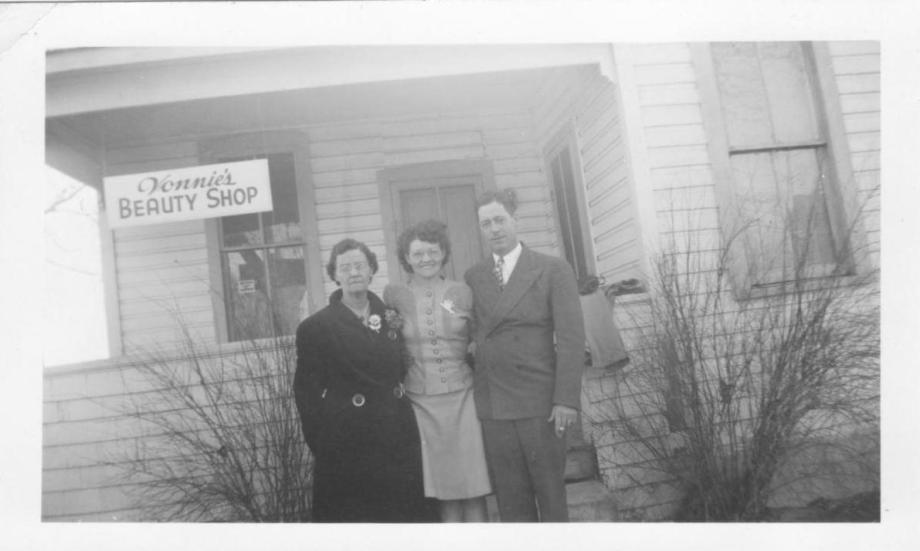 Grandma Perkin's first beauty shop.